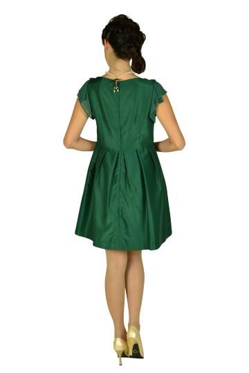 グリーンリボンモチーフ付きドレス