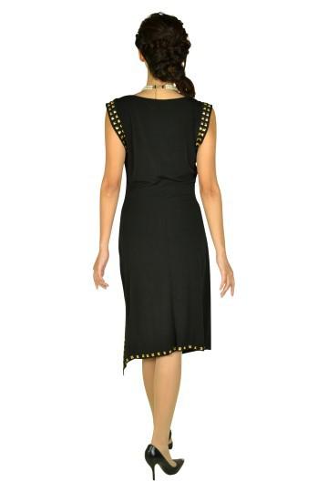 ゴールドスタッズブラックドレス