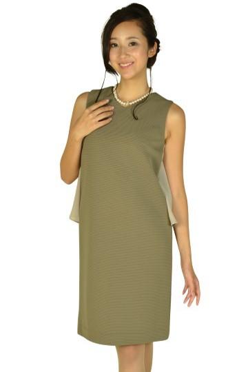 グログランクールカーキドレス