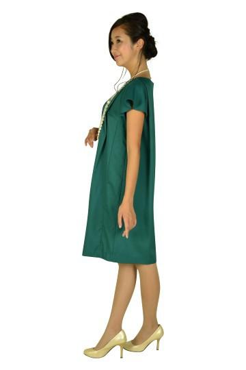 リーフビジュグリーンドレス
