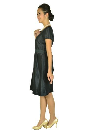 半袖シンプルシャンタンネイビードレス