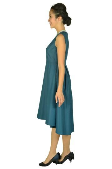 フィッシュテールスカートグリーンドレス