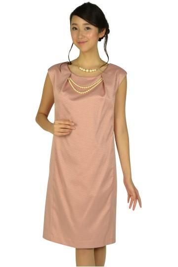 パール飾り付きピンクドレス