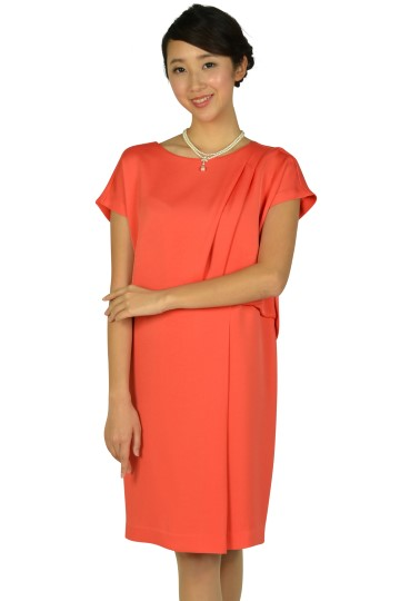 フレンチスリーブオレンジドレス