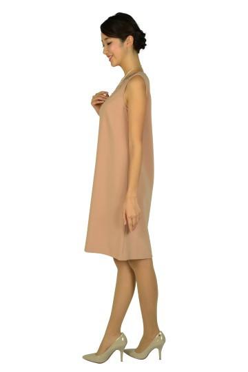 上質ピンクベージュドレス