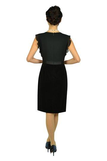 Iラインベロアスカートブラックドレス