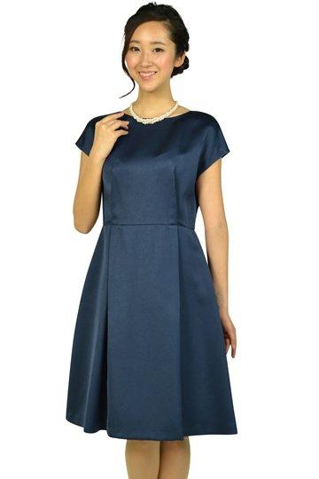 上質シンプルネイビードレス