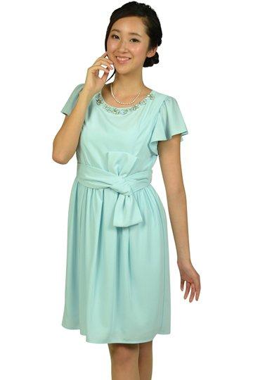 パステルサックスドレス