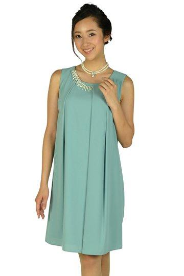 パステルミントタックゆったりドレス