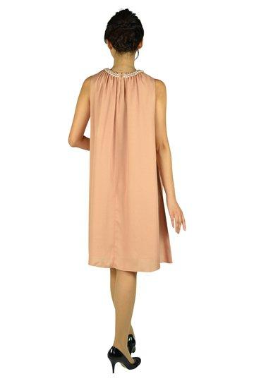 パールビジュゴールドオレンジドレス