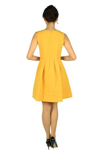 豪華ビジュマスタードドレス
