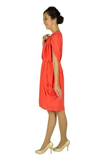 ゴージャスオレンジドレス