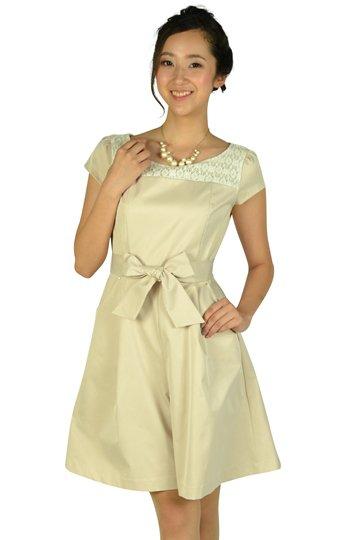 キュロットパンツベージュドレス