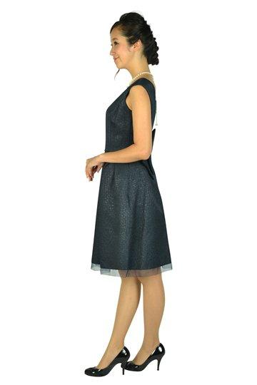ハートカットネイビードレス