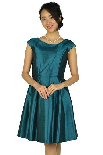 光沢シャンタングリーンドレス