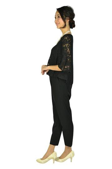 レースセパレートブラックパンツドレス