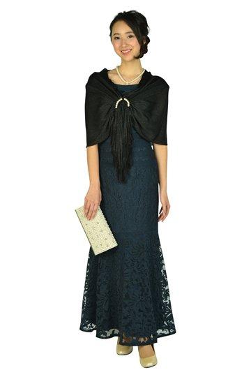 マーメイドラインロングネイビードレス