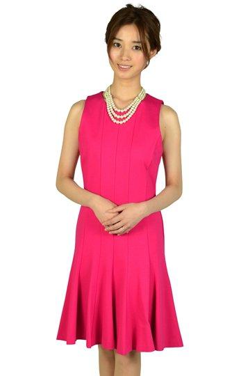 トランペットスカートフューシャピンクドレス