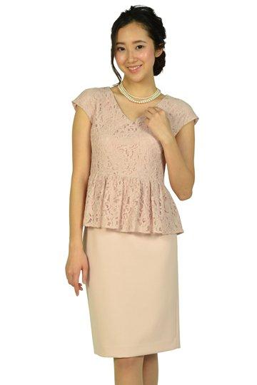 レーストップスIラインピンクドレス