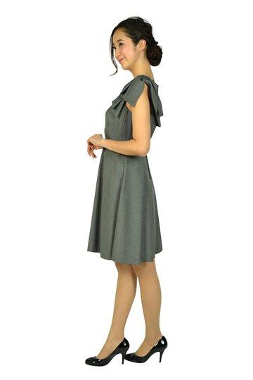 ワンポイントグレータックドレス