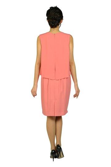 シンプルビジュコーラルオレンジドレス