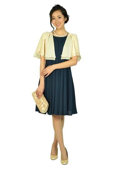 編み上げタックネイビードレス