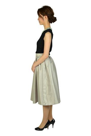 サマーニットスカートシルバードレス