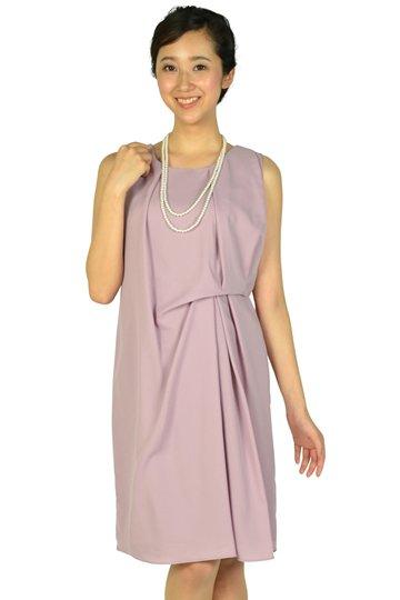 ウエストタックアッシュピンクドレス