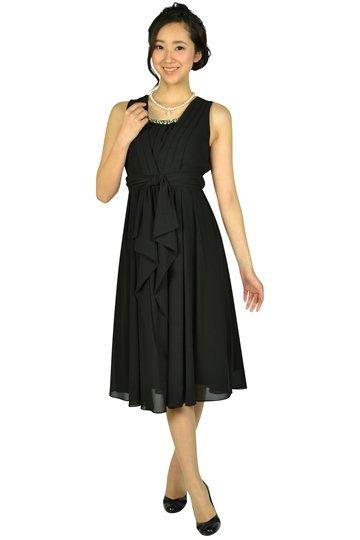 上品ミディ丈ブラックドレス