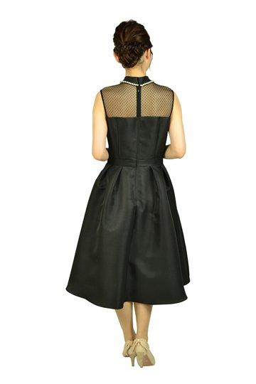 ボトルネックパールブラックドレス
