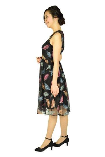 マルチ羽刺繍ブラックドレス