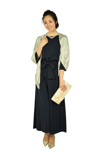 ワイドパンツセットアップネイビードレス