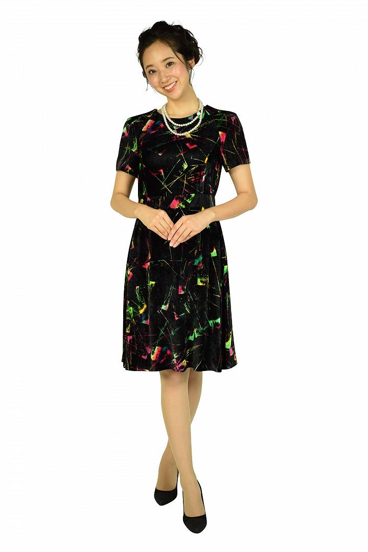 マルチベロアブラックドレス