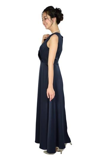 カシュクールネイビーロングドレス