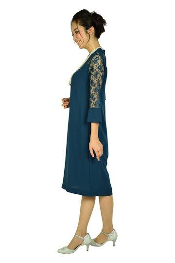 ゆったりブルーグリーンドレス