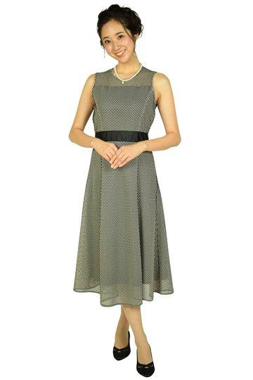 編み込みベージュ×ブラックドレス