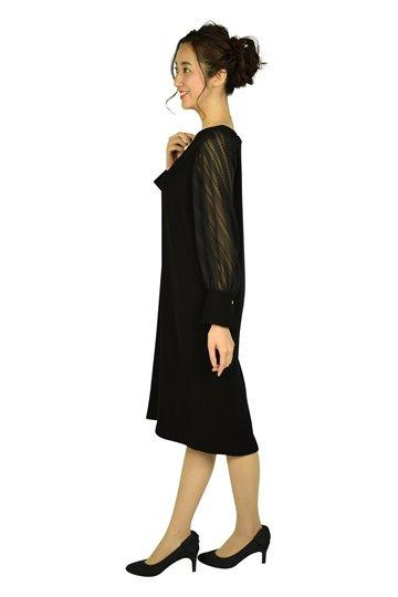 ダブルクロス×ジャカードジョーゼットブラックドレス