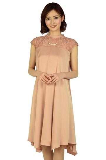 バックリボンAラインライトオレンジドレス