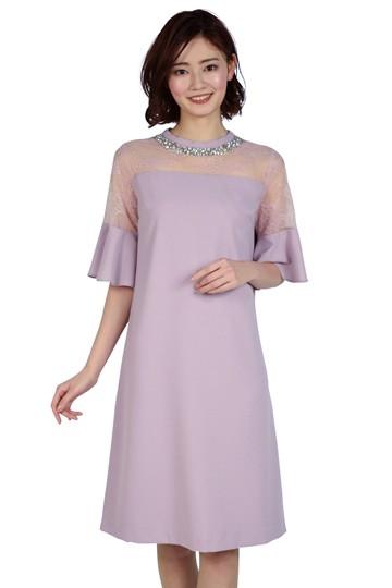ビジュAラインピンクドレス
