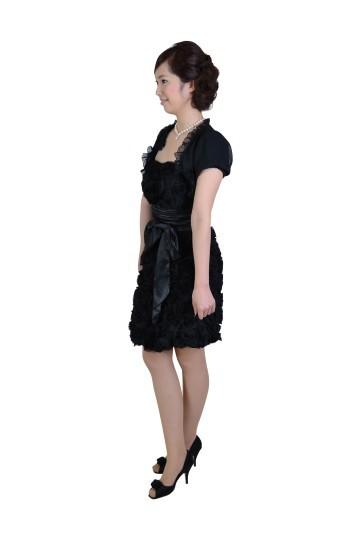 ブラックローズモチーフドレスセット