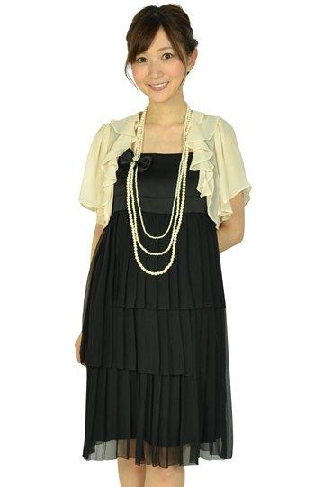 ティアードブラックドレスセット