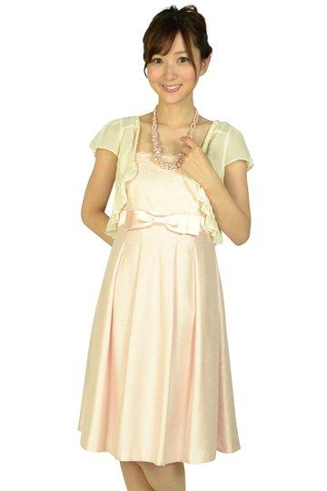 リボンモチーフピンクドレスセット