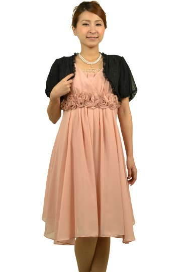 柔らかピンクローズドレスセット