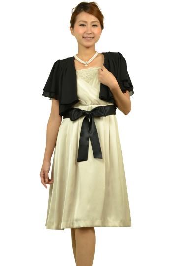シャンパンミニ袖ドレスセット
