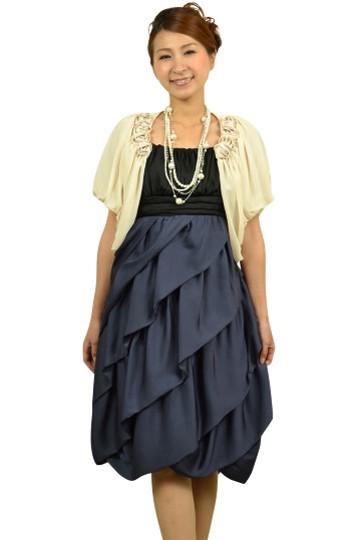 ネイビー編み上げドレスセット
