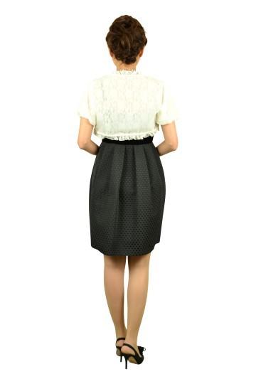 ブラックコクーンスカートドレスセット