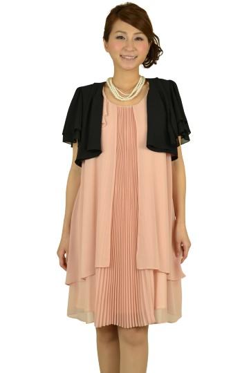 センタープリーツミニ袖ドレスセット