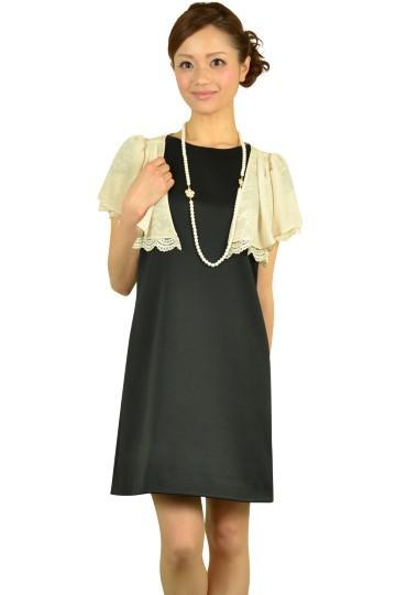 バックデザインブラックドレスセット