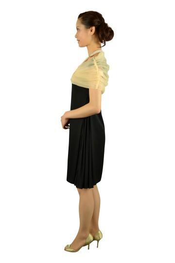 シンプルブラックドレスセット