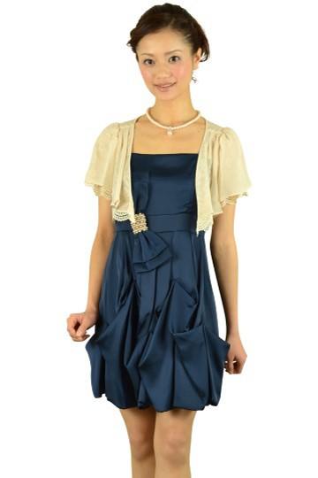 リボン付きネイビードレスセット
